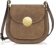 Agave Suede And Smooth Leather Shoulder Bag