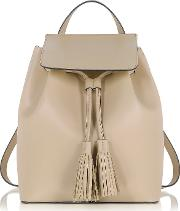 Nude Leather Backpack
