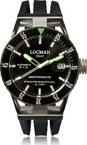 Locman Men's Watches, Montecristo Black Pvd Stainless Steel & Titanium Chronograph Men's Watch