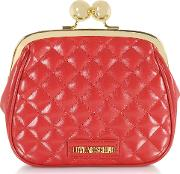 Quilted Eco Leather Clutch Wchain