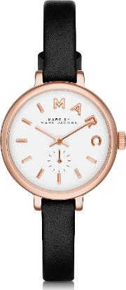 Sally 28 Mm Stainless Steel And Leather Strap Women's Watch