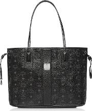 Black Shopper Project Visetos Medium Reversible Tote Bag