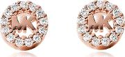 Heritage Rose Gold Tone Pave Studs