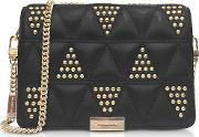 Jade Studded Quilted Leather Clutch