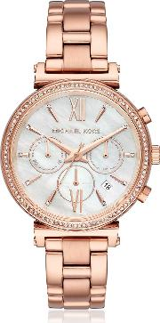Sofie Pave Rose Gold Tone Women's Watch