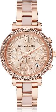 Sofie Rose Gold Tone And Acetate Women's Watch