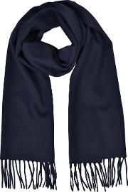 Cashmere And Wool Fringed Long Scarf