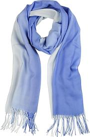 Gradient Bluelight Blue Wool And Cashmere Stole