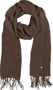 Mila Schon Long Scarves, Brown Wool And Cashmere Stole