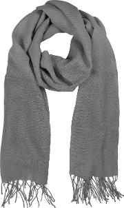 Gray Wool And Cashmere Stole