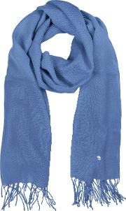 Light Blue Wool And Cashmere Stole
