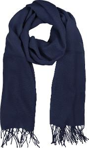 Midnight Blue Wool And Cashmere Stole
