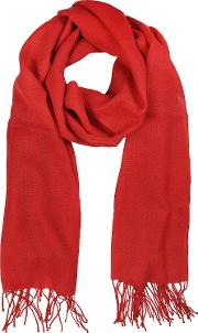 Mila Schon Long Scarves, Red Wool And Cashmere Stole