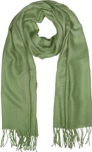 Mila Schon Long Scarves, Wool And Cashmere Fringed Stole