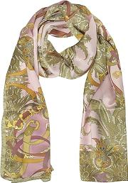 Ornamental And Pattern Printed Satin Silk Stole