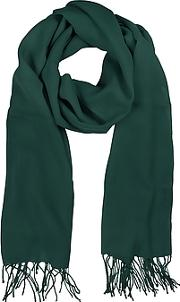 Petrol Green Wool And Cashmere Stole