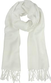White Wool And Cashmere Stole