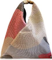 Camouflage Printed Mesh Small Japanese Tote Bag