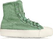 Mint Green Canvas Sneakers
