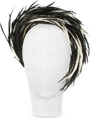 Nana' Women's Hats, Aurora Black And White Feather Headband