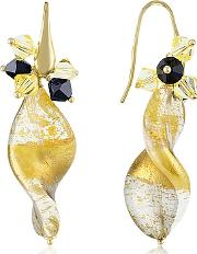 Gold Foil Drop Earrings