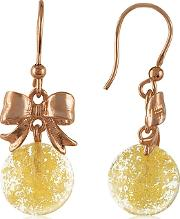 Yellow Round Drop Earrings