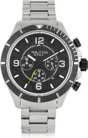 Nautica Men's Watches, Silver Tone Stainless Steel Men's Bracelet Watch