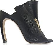 Black Nappa 105mm Kristen High Heel Mules