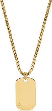 Ns Id Tag Necklace In Yellow Gold