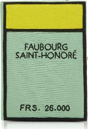 Cotton And Wool Faubourg Saint Honore Book Clutch Wshoulder Strap