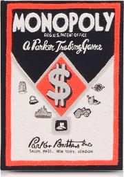Cotton And Wool Monopoly Parker Trading Game Book Clutch
