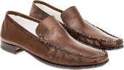 Cocoa Italian Handmade Leather Loafer Shoes