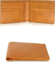 Country Cognac Leather Billfold Wallet