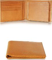 Country Cognac Leather Billfold Wallet Wflap