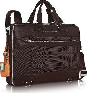 Piquadro Briefcases, Link Double Handle 17 Laptop Case