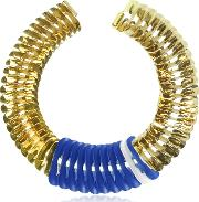 Blue And White Fishbone Necklace