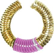 Pink And White Fishbone Necklace