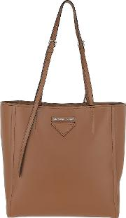 Small Concept Leather Tote Brown