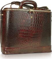 Croco Stamped Leather Laptop Business Bag Wcourtesy Light