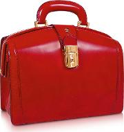 Ladies Polished Italian Leather Briefcase