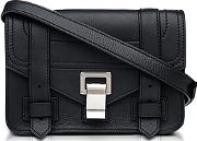 Ps1+ Black Grainy Leather Mini Crossbody Bag