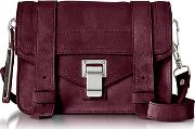 Ps1 Mini Dark Grape Suede Crossbody Bag