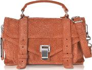 Ps1 Tiny Fawn Suede Satchel Bag