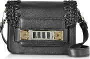 Ps11 Black Smooth Leather Crossbody Bag Wcrochet