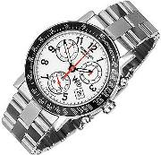 W1 White Stainless Steel Chronograph Watch W Tachymetre