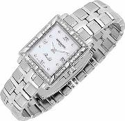 Parsifal Ladies' Diamond Frame Mother Of Pearl Date Watch