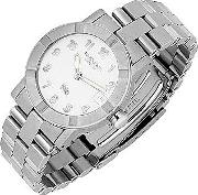 Parsifal W1 Women's White Dial Stainless Steel Date Watch