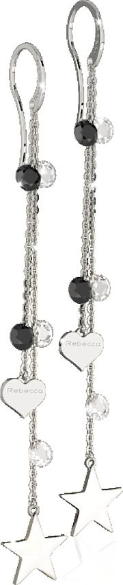 Lucciole Sterling Silver Earrings Wblack Crystals