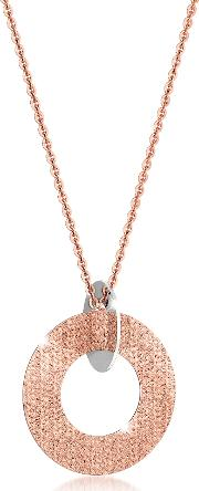 Rebecca Necklaces, R Zero Rose Gold Over Bronze And Steel Long Necklace