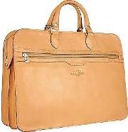 Women's Sand Double Gusset Soft Leather Briefcase